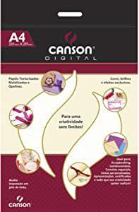 Papel Opalina Branco Telado - A4 - 15 folhas - Canson Dital