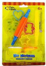 Kit Massinha Conjunto Prático - contém acessórios e 2 potes de massinhas - Pais&Filhos