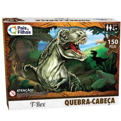Quebra-cabeça T-Rex - 150 peças - Pais&Filhos