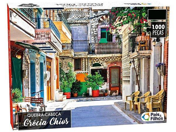 Quebra-cabeça Grécia Chios - 1000 peças - Pais&Filhos