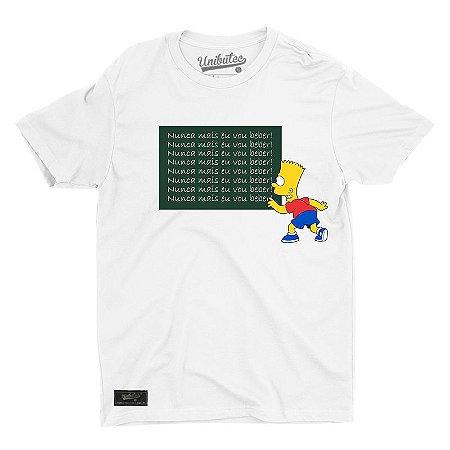 Camiseta Unibutec Nunca Mais Eu Vou Beber Bart
