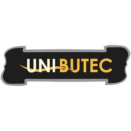Adesivo Unibutec Logo Tarja 2018 Preto 16x07cm