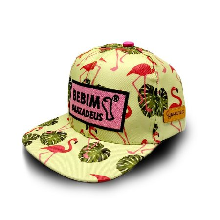 Boné UniButec Flamingos Bebim Grazadeus Aba Reta