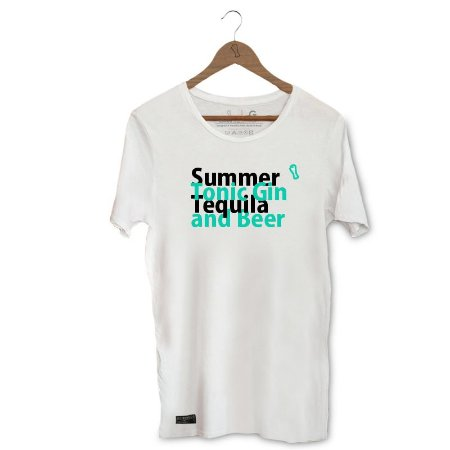 Camiseta Unibutec Basic Summer, Tonic Gin, Tequila and Beer