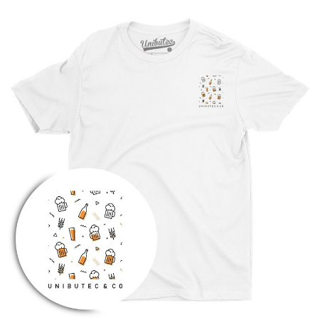 Camiseta Unibutec Minimalist Beer Icons