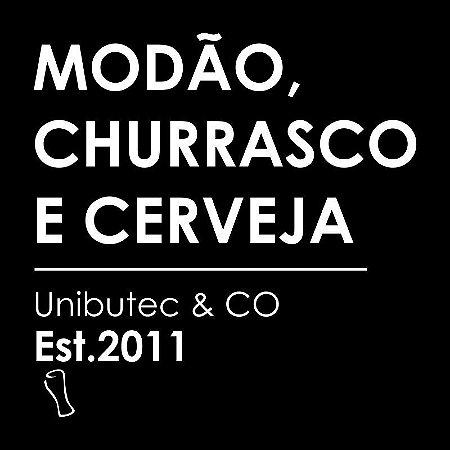Adesivo Unibutec Modão, Churrasco E Cerveja Preto 9,5x9,5cm