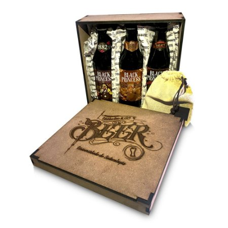 Kit Premium Unibutec para Presente • Camiseta + Carteira + 3 Cervejas Especiais