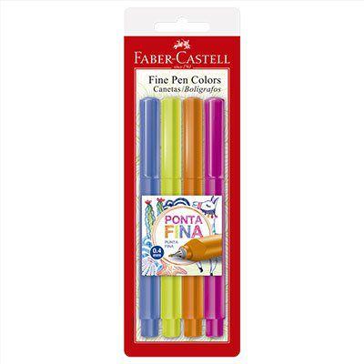 Caneta Fine Pen - cartela 3 com 04 unidades