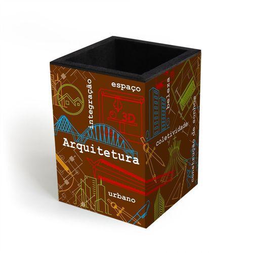 Porta-lápis Fina Ideia Arquitetura 70x70x100mm