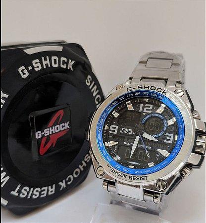 G-Shock de Aço Escovado