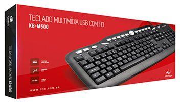 TECLADO USB C3TECH KB-M500BK PRETO