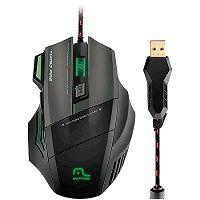 MOUSE USB GAMER MULTILASER PRETO/VERDE - MO207