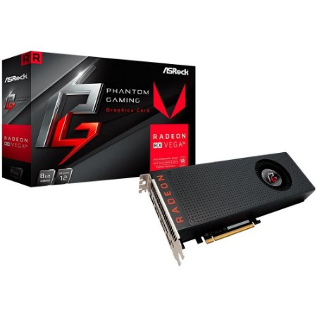 PLACA DE VÍDEO RADEON RX580 PHANTOM GAMING OC 8G DDR5 ASROCK
