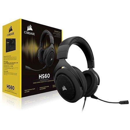 HEADSET P2 GAMER CORSAIR HS60 7.1 CARBONO CA-9011173-NA