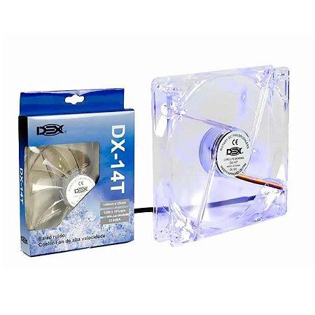 COOLER GABINETE 14CM COM LED AZUL DX-14T CL0018AZ