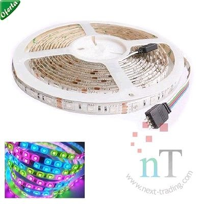FITA LED COLORIDOS PROVA DAGUA COM CONTROLE 5M 60 LEDS 180W/RGB EXBOM 01220#