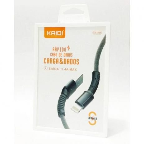 CABO USB IPHONE LIGHTNING KAIDI KD-323A PRETO 1100 567901
