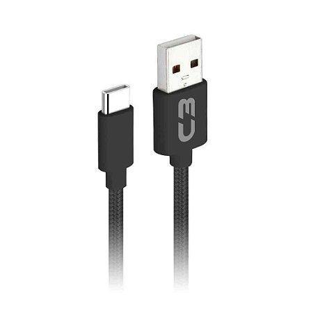 CABO USB TIPO-C 2M 2A C3PLUS CB-C21BKX PRETO