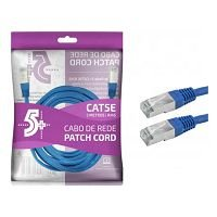 CABO REDE CAT5E 5M CHIPSCE AZUL 018-9913
