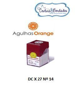 AGULHA ORANGE DC X 27 OVERLOCK / INTERLOCK Nº 22