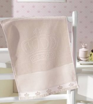 Toalha Lavabo Dohler Baby Classic Liso BEGE