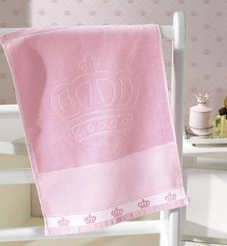 Toalha Lavabo Dohler Baby Classic Liso ROSA