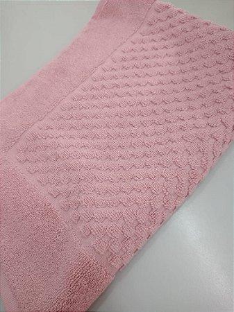 Toalha para Piso Felpudo Primer Liso  ROSA COR 5394