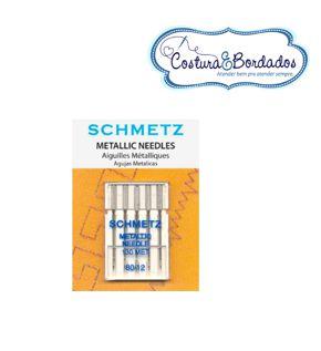 Agulha Schmetz Para Fio Metálico 5 Unidades