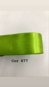 Fita de cetim Numero 2 progresso CF002 COR 677 VERDE CÍTRICO