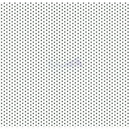 TRICOLINE POA COR 83 100% ALGODÃO TT180301(BRANCO COM PRETO)