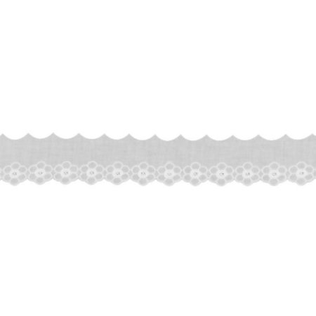 Bordado Inglês 5cm 100% Algodão BA021 - 13,7m