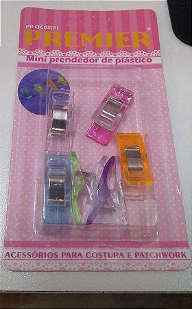 Clips Mini colorido Pequeno Premier  C/ 6 UNIDADES PR-QCO2 (P)