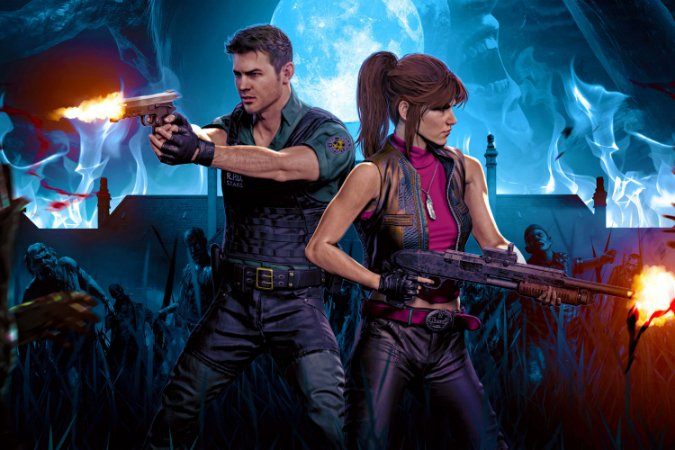 Quadro Gamer Resident Evil - Artístico
