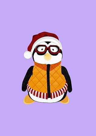 Quadro Minimalista H.E - Friends Hugsy Pinguim