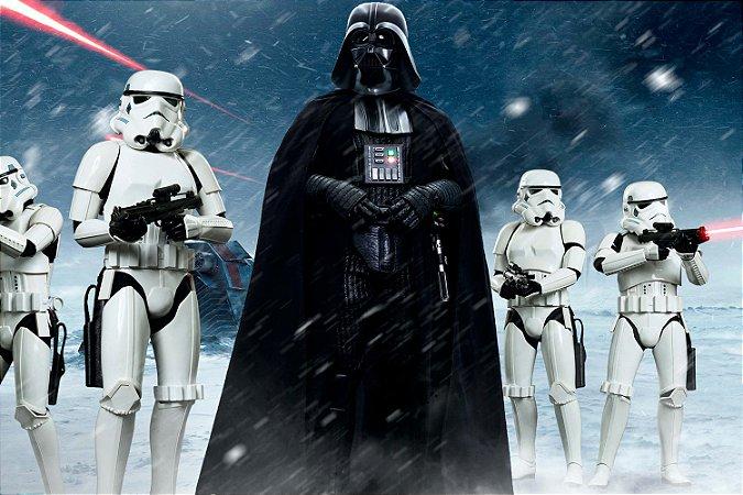 Quadro Star Wars - Darth Vader e Clones
