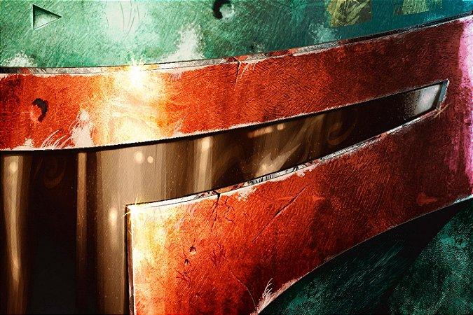 Quadro Star Wars - Boba Fett Capacete