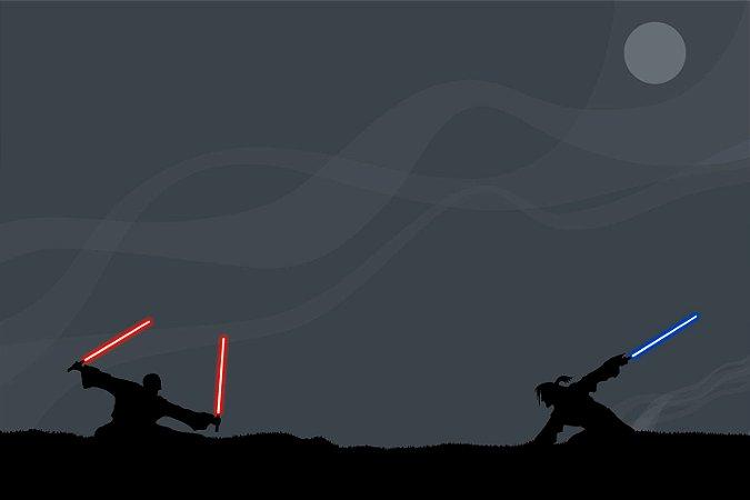 Quadro Star Wars - Jedi e Sith Minimalista