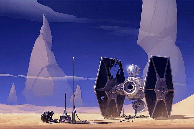 Quadro Star Wars - Caça TIE Artístico