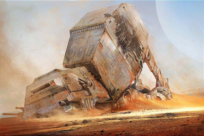 Quadro Star Wars - At-At Walker Destruído