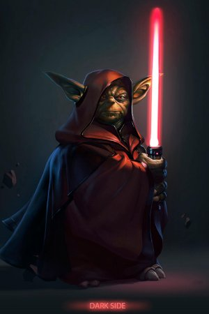 Quadro Star Wars - Yoda Sith