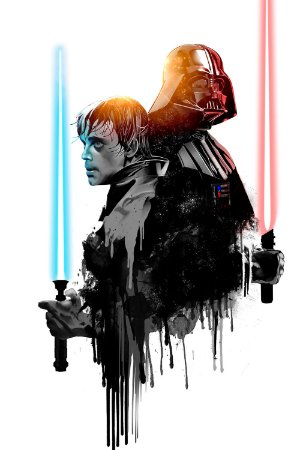 Quadro Star Wars - Luke Skywalker e Darth Vader