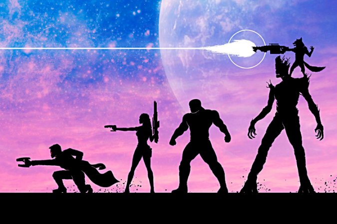 Quadro Guardiões da Galáxia - Minimalista 2