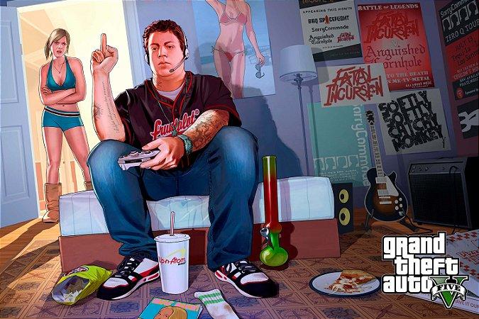 Quadro Gamer GTA V - James e Tracey