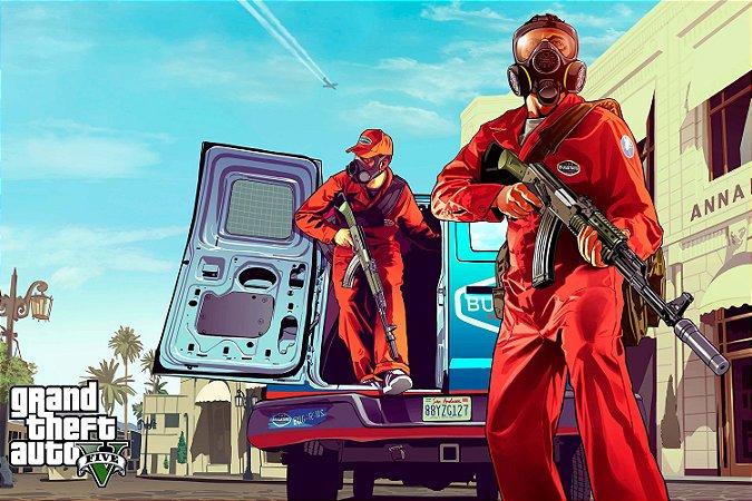 Quadro Gamer GTA V - Controle de Pragas