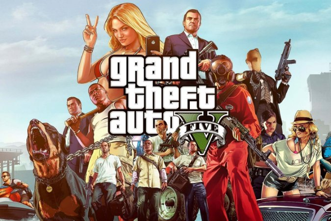 Quadro Gamer GTA V - Pôster