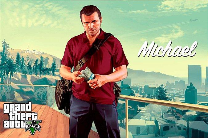 Quadro Gamer GTA V - Michael