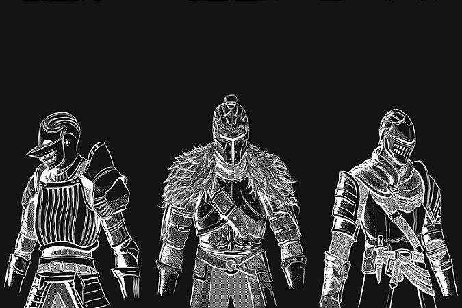 Quadro Gamer Dark Souls - Minimalista 4