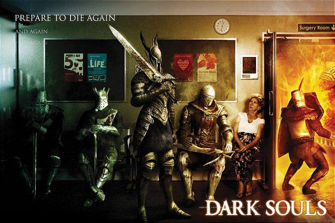 Quadro Gamer Dark Souls - Sala de Espera