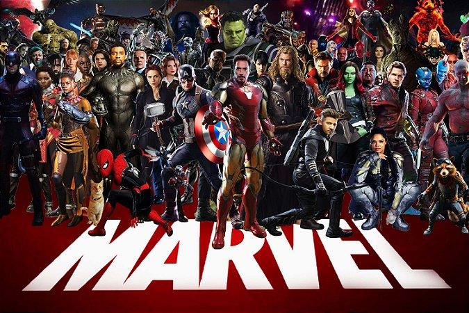 Quadro Decorativo Marvel - Todos Heróis