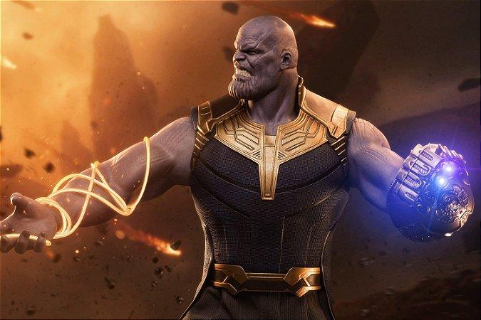Quadro Vingadores - Thanos Batalha Final